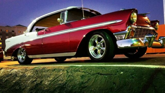 1956 Chevrolet Bel Air/150/210 (White/Red)
