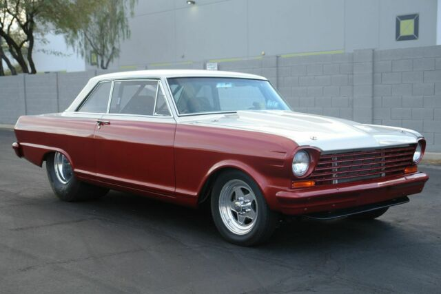 1963 Chevrolet Nova (Burgundy/Gray)